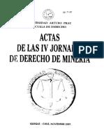 Actas de las IV jornadas de derecho de minería. Unap..pdf