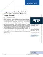 Staged Approach for Rehabilitation Classification