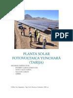 Planta Solar Fotovoltaica Yunchará