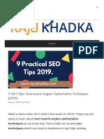 Best Search Engine Optimization Techniques Www Rajukhadka Com