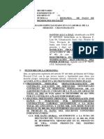 Demanda Laboral 19 - Pago de Beneficios Sociales y Rumuneracio No Pagadas Santos Allca Diaz