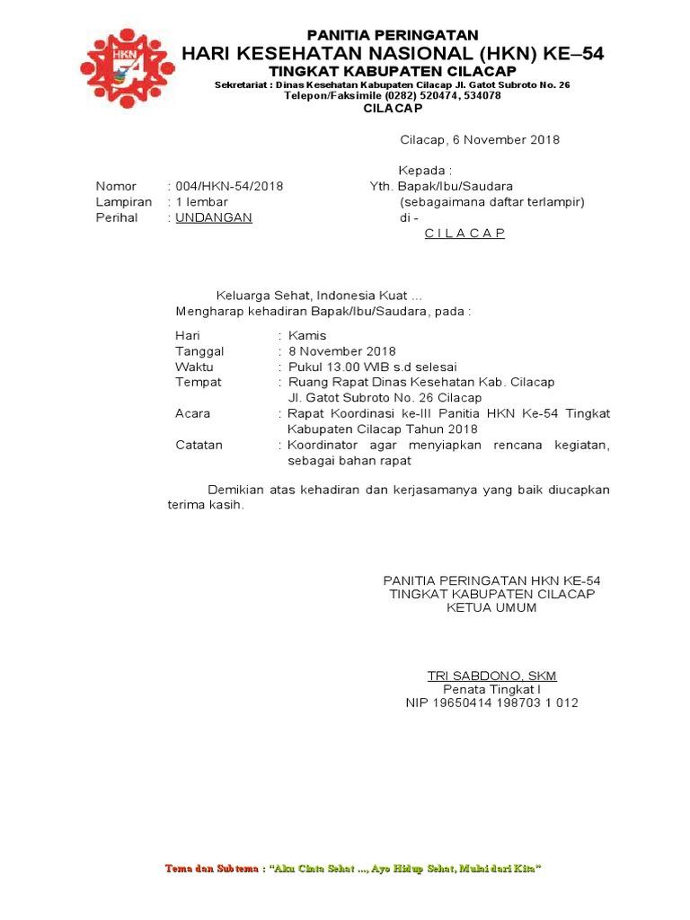 Contoh Surat Undangan Rapat Dinas Kesehatan - Sample Surat ...