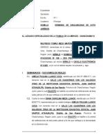 Demanda de Anulabilidad de Acto Juridico - Wilfredo Tomas Meza Martinez
