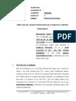 Demanda de Ddivorcio Por Causal de Adulterio - Melquiades Pardo Pillpe