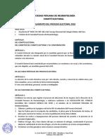 2018 Elecciones Reglamento Comite Electoral