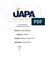 TAREA VII Procesal Civil III Juanito Herrera Yudely Rodriguez