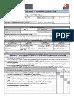 Ficha de Monitoreo Desempeño 2019 Colegio