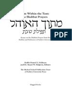 Productattachments Files l o Look Inside - Mitokh Ha-ohel Shabbat Prayer