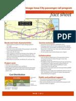 Iowa City Passenger Rail Fact Sheet