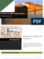 Lineas de Alta y Baja Presion Bombeo Hidraulico - Presentación