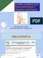 ANESTESIA PARA CORRECCION DE ATRESIA ESOFAGICA Y FISTULA.pptx