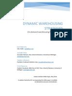 Dynamic Warehousing Strategies