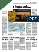 Trabajo de investigación al ex alcalde del distrito San Luis