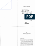 Alain Badiou - Filosofia y Literatura