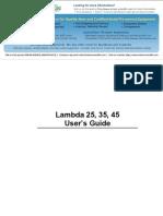 Perkin Elmer Lambda 25-35-45 Manual