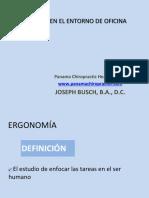 Ergonomia en El Entorno de Oficina