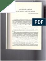 Texto 1 - A Multidisciplinaridade No Estado Das Politicas