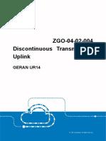 GERAN UR14 ZGO-04!02!004 Discontinuous Transmission Uplink Feature Guide (V4)