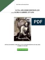 Hijo de La Luna Spanish Edition by Milagro Gabriel Evans