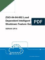 GERAN UR14 ZGO-04!04!002 Load Dependent Intelligent TRX Shutdown Feature Guide(V4)