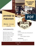 Campaña Publicitaria - Mona Lisa Final - 3ro a - Esco-fcje
