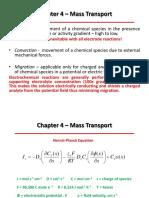 Chapter 4 – Mass Transport