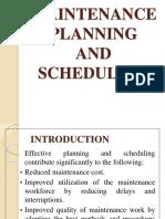 4. Maintenance Planning & Scheduling