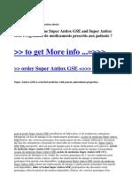 Societe de Medecine Super Antiox GSE and Super Antiox GSE Programme de Medicaments Prescrits Aux Patients