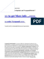 Verapamil Trouble Bipolaire and Verapamil Retrait