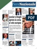 Rassegna Stampa Nazionale e Locale Dell'Umbria Del 16 Gennaio 2019