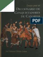 Ensayo Para Un Diccionario de Conquistadores de Canarias AB