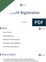 FSSAI Registration | FSSAI Registration Documents