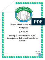 Saving & Third Party Fund Management Manual Final