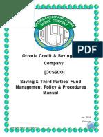 Saving & Third Party Fund Management Manual Final