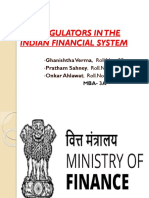 The Regulators in the Indian Financial System (Fmi)