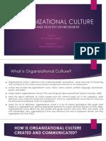 GMB725 Organizational Culture