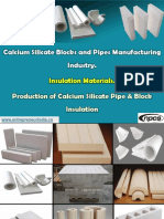 Calcium Silicate Blocks and Pipes Manufacturing Industry