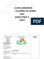 Yearly Scheme of Work Year 5 2019