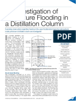 An Investigation of Premature Flooding in a Distillation Column