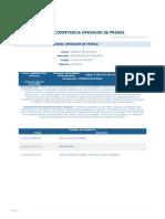 Perfil Competencia Operador de Prensa