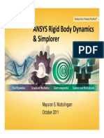 ANSYS Rigid Body Dynamics and ANSYS Simplorer