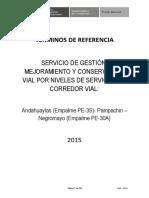TERMINOS DE REFERENCIA - CARRETERAS DE NIVELES POR SERVICIO