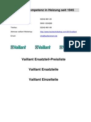 mit Dichtung Vaillant 078936 Deckel kpl