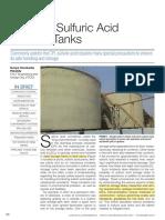 Safety in Sulfuric Acid Storage Tanks