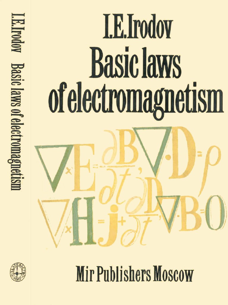 Basic Laws Of Electromagnetism By I E Irodov.pdf | Divergence ...