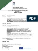 Agenda  - Šesta plenarna sednica Nacionalnog konventa o Evropskoj uniji
