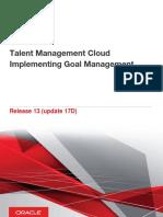 Talent Management Cloud Implementing Goal Management