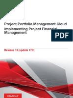 Project Portfolio Management Cloud Implementing Project Financial Management
