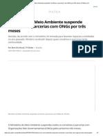 Ministério Do Meio Ambiente Suspende Convênios e Parcerias Com ONGs Por Três Meses _ Política _ G1