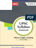 Upsc Mini Syllabus